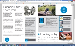 digital newsletter copywriter fitness in finance