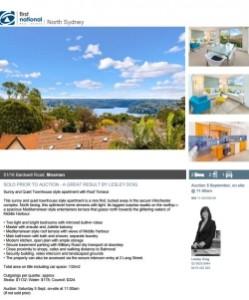 real estate copy writing residential brochure bardwell rd mosman