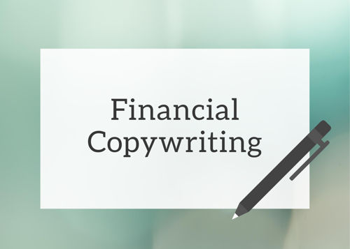 Financial copywriter services
